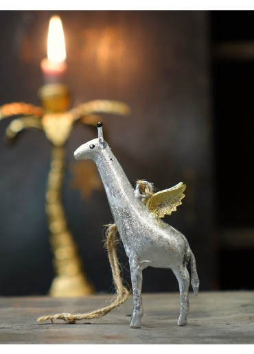 Metall Giraffe mini silber von Pape