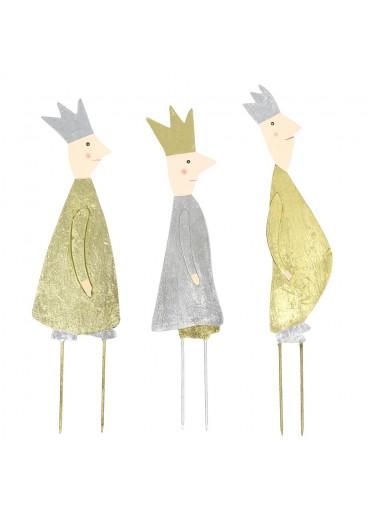 Metall Heilige drei Könige Stecker