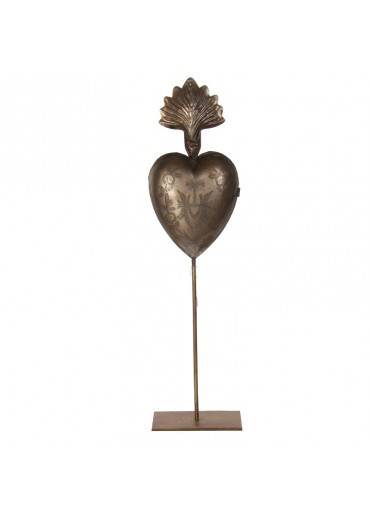 Scared Heart Metall antik L
