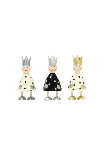 Metall Könige mini Cremeweiß und Schwarz