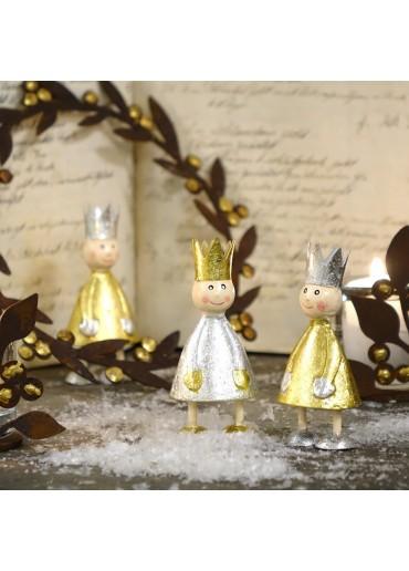 Mini Metall Könige silber und gold von Pape dekoriert