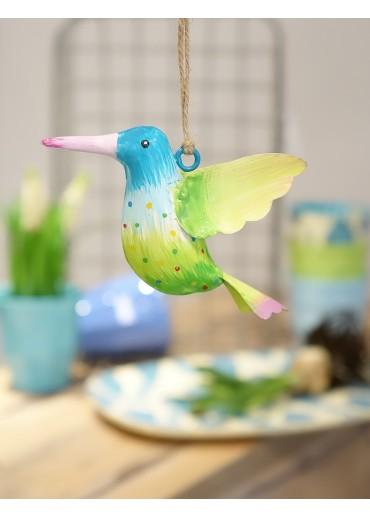 Metall Kolibri klein blau-hellgrün