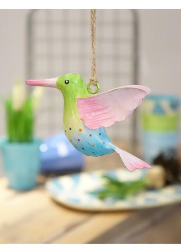 Metall Kolibri klein hellgrün-hellblau