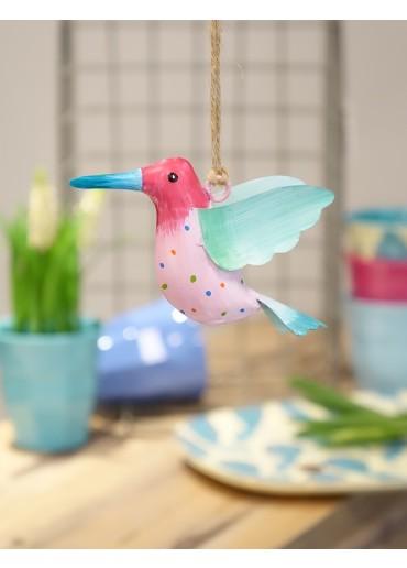 Metall Kolibri klein pink-rosa
