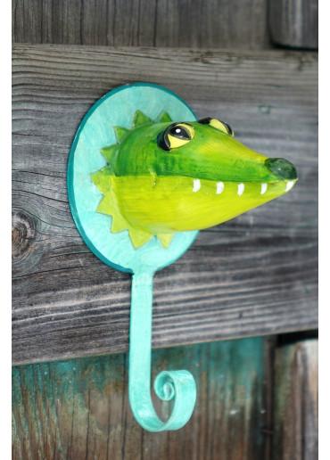 Metall Tierhaken Krokodil