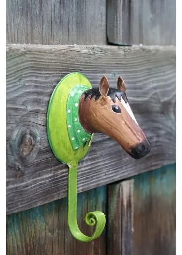 Pferd Wandhaken Metall bemalt
