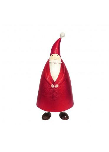 "Metall Santa ""Olli"" Metallic rot L H30 cm"