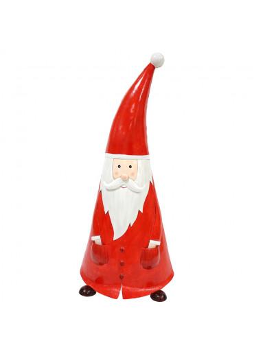 "Metall Santa ""Oskar"" XXL rot  H 91 cm"