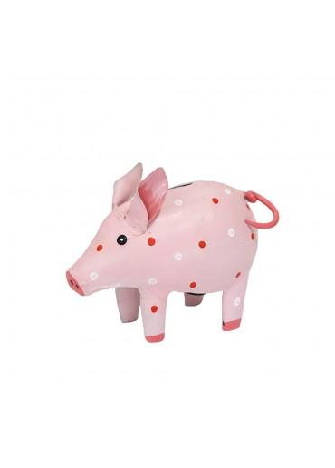 """Metall Spardose Schwein """"Dotty"""" klein rosa"""