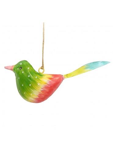 Metall Vogel bunt zum Hängen klein (103372)