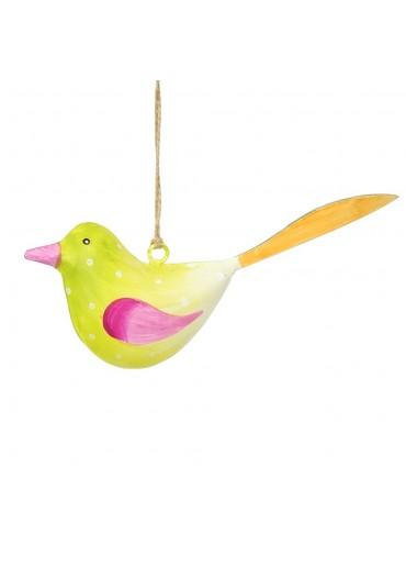 Metall Vogel bunt zum Hängen klein (103672)