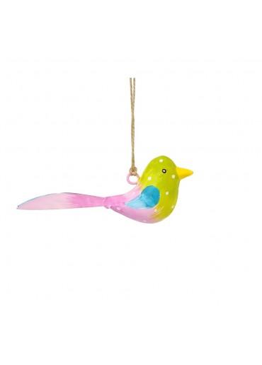 Metall Vogel bunt zum Hängen mini (103668)