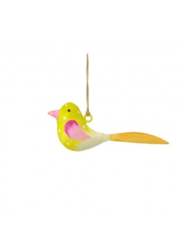 Metall Vogel bunt zum Hängen mini (103667)