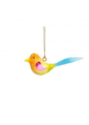 Metall Vogel bunt zum Hängen mini (103666)