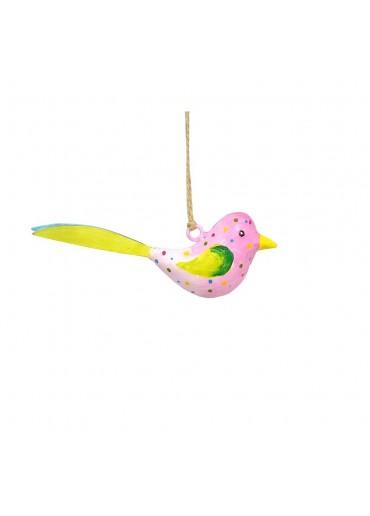 Metall Vogel bunt zum Hängen mini (103664)