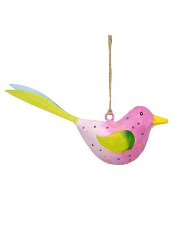 Metall Vogel bunt zum Hängen klein (103675)
