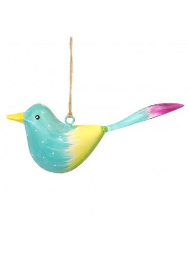 Metall Vogel bunt zum Hängen klein (103373)
