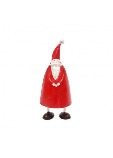 Metall Weihnachtsmann Olli M rot mit Glitzer von Pape