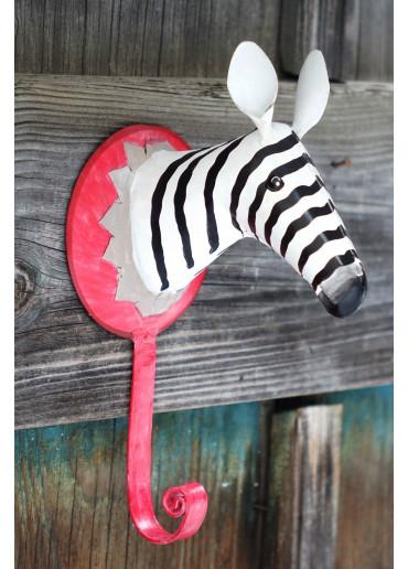 Metall Zebra als Wandhaken