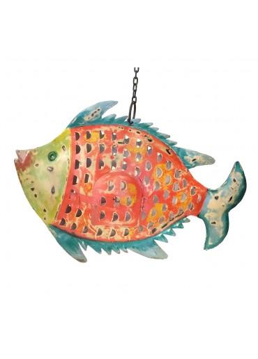 """Metall Fisch Laterne """"Fenja"""" zum Hängen und Stellen H31 cm"""