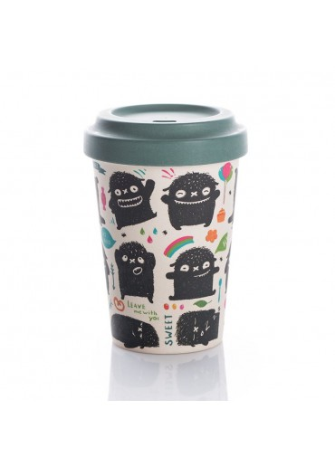 "Bamboo Cup ""Monster Greetings"" Chic.Mic"