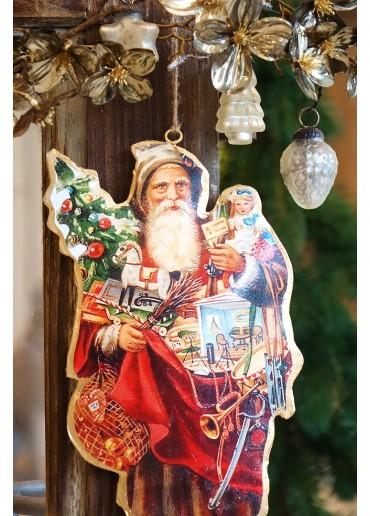 Nostalgie Santa Metall zum Hängen II. Wahl