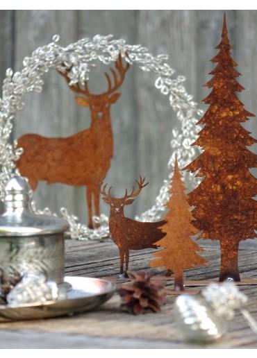 Nostalgischer Weihnachtskranz aus Bouillondraht silbern