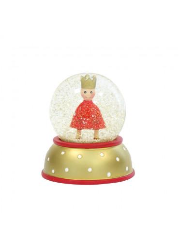 Schneekugel König rot