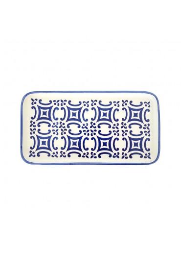 """Vista Portuguese Keramik Platte rechteckig """"Mosaik dunkelblau"""" medium"""