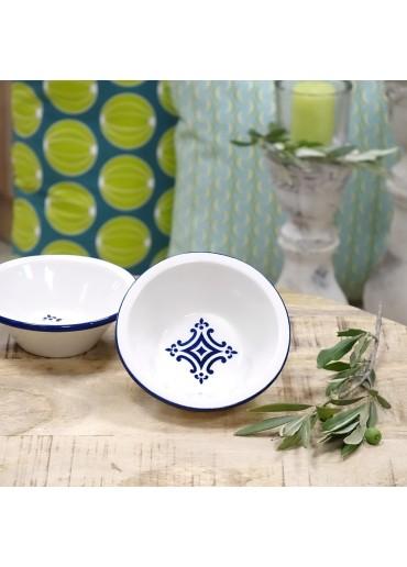 Portugiesische Keramik Schale klein mit Azulejo-Motiv dunkelblau
