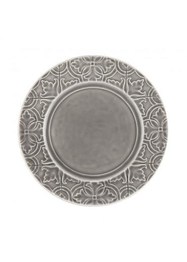 Portugiesische Keramik Teller Rua Nova anthrazit