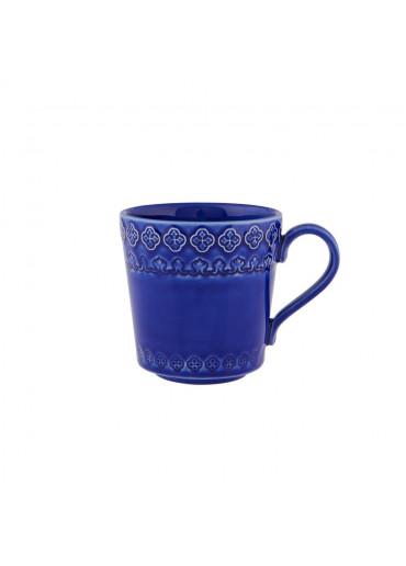 Portugiesischer Keramik Becher Rua Nova blau