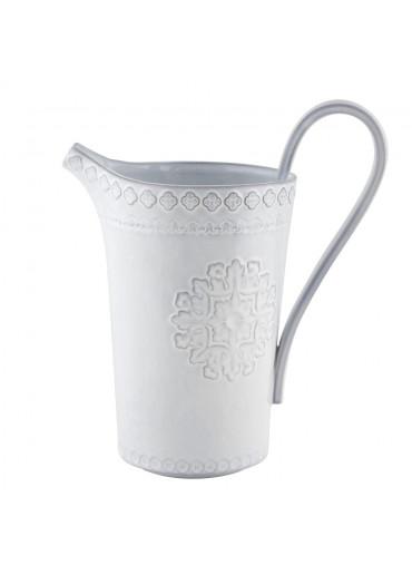 Portugiesischer Keramik Krug Rua Nova antikweiß