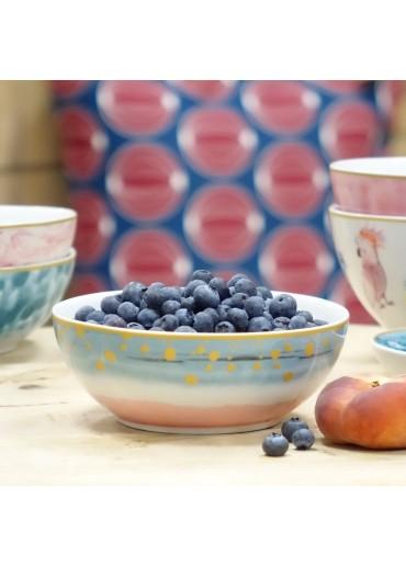 Rice Porzellan Frühstücksschale Dip Dye Print