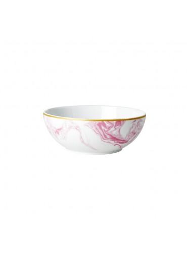 Rice Porzellan Frühstücksschale Marble-Print Bubblegum-Pink
