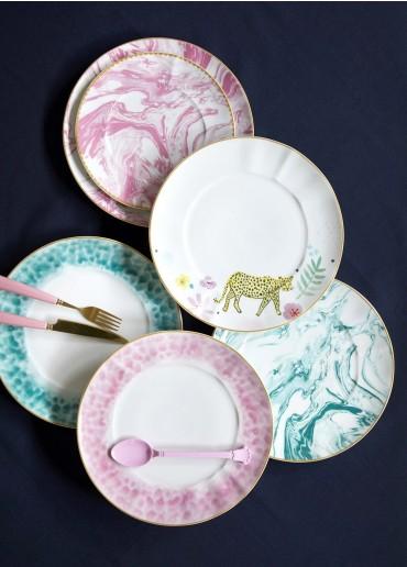 Rice Porzellan Speise Teller Marble-Print Jade