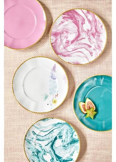 Rice Porzellan Kuchen Teller Blue Lupin