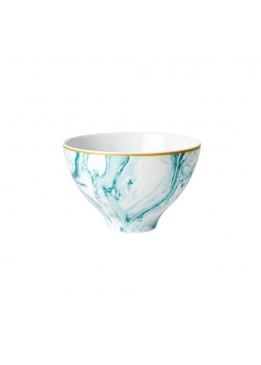 Rice Porzellan Schale Marble-Print Jade