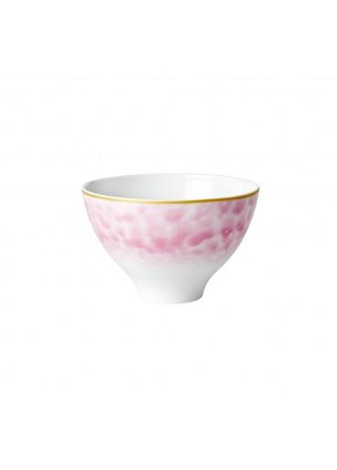 Rice Porzellan Schale Glaze-Print Bubblegum-Pink