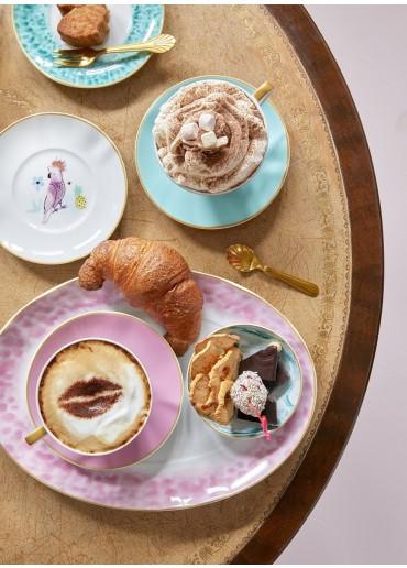Rice Porzellan Servierplatte Glaze-Print Bubblegum-Pink