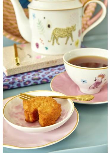 Rice Porzellan Dipp Schale Glaze-Print Bubblegum-Pink