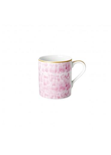 Rice Porzellan Kaffeetasse Glaze-Print Bubblegum Pink