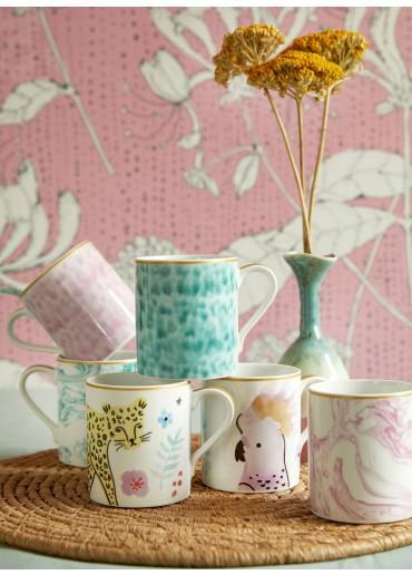 Rice Porzellan Mug Leopard Print