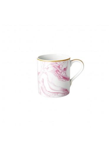Rice Porzellan Kaffeetasse Marble-Print Bubblegum Pink