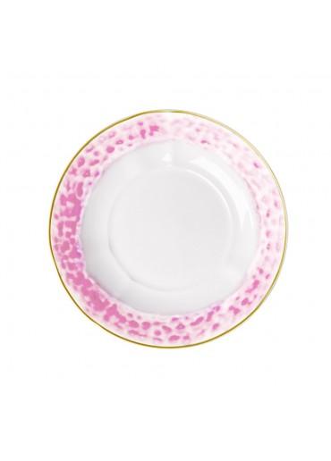 Rice Porzellan Suppen Teller Glaze-Print Bubblegum Pink