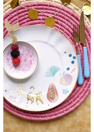 Rice Porzellan Speise Teller Monkey Print