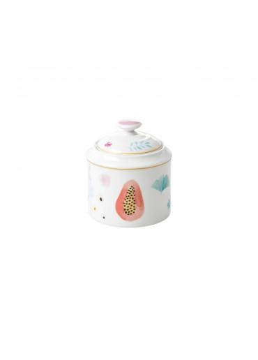 Rice Porzellan Zuckerdose mit Deckel