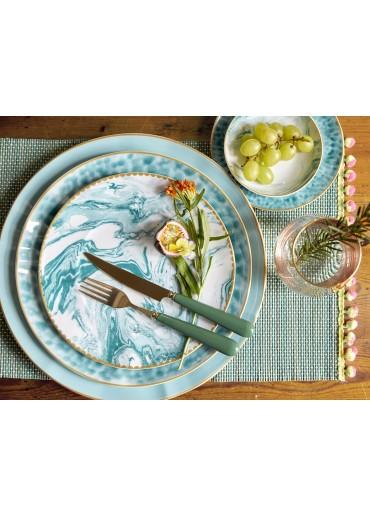 Rice Porzellan Speise Teller Glaze-Print Jade