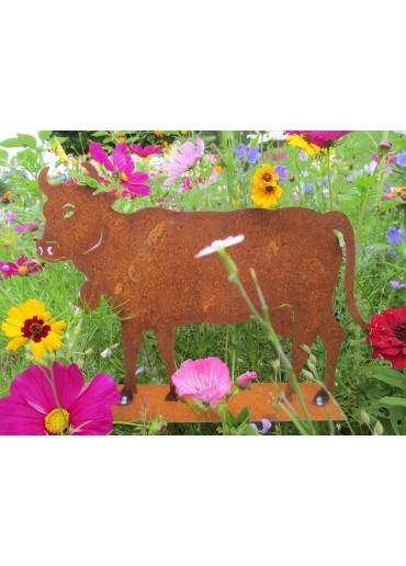 Rostige Kuh groß auf Platte