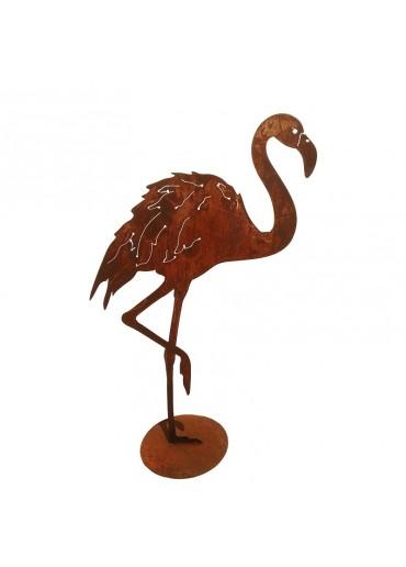 Rostiger Flamingo stehend 1 Fuß
